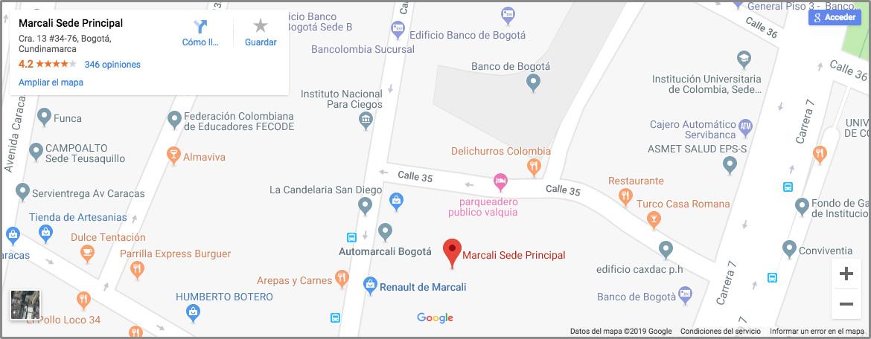 ubicacion en el mapa de google